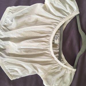 100% cotton on or off shoulder top